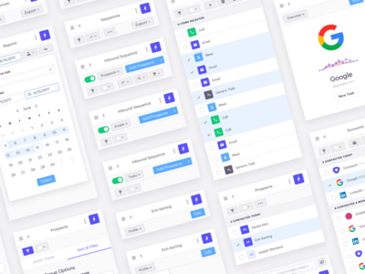 Outreach Everywhere google chrome extension ux ui design calendar toggle outreach crm sales meetings