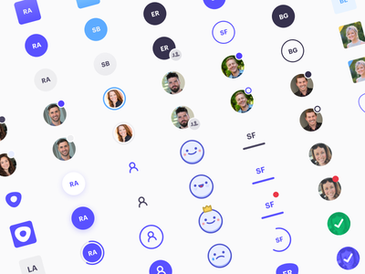 Avatar Concepts design ux ui team notification badge account user prospect icon profile avatar