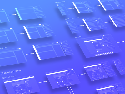 Sidebar User Flow interaction extension chrome flow user saas crm sales outreach design ui ux
