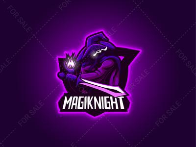 MAGIKNIGHT Mascot Logo