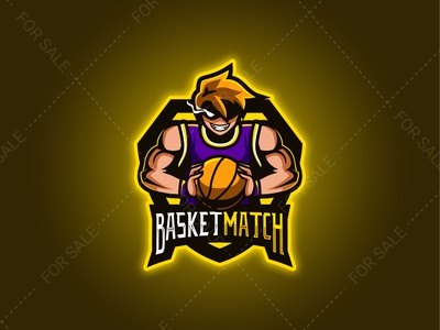 BASKETMATCH Mascot Logo
