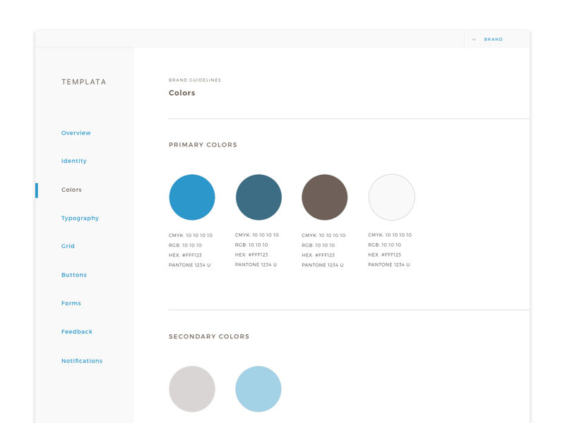 Style Guide Template Dribbble Ui Howldb