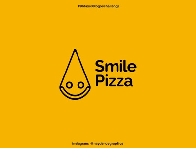 """Smile Pizza"" logo 30 days 30 logos challenge. 19th of September pizza logo challenge logo creative logo creator logo inspirations logo designer for hire logo designer logo design illustration vector logotype logodesign logo design"