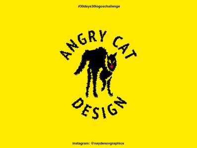 """Angry cat"" logo 30 days 30 logos challenge. 22nd of September cat logo maker logo creative logo creator logo inspire logo designer for hire logo inspiration logo designer logo design icon flat vector logotype logodesign logo"