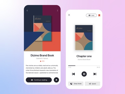 A reading UI interface ui