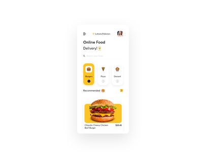 Delivery App ui fastfood delivery app