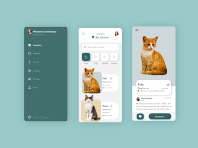 Pet adoption pet app app ui pet adoption pets
