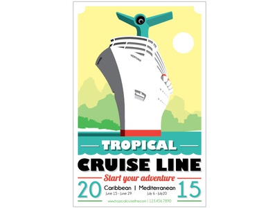 Tropical Cruise Line travel poster