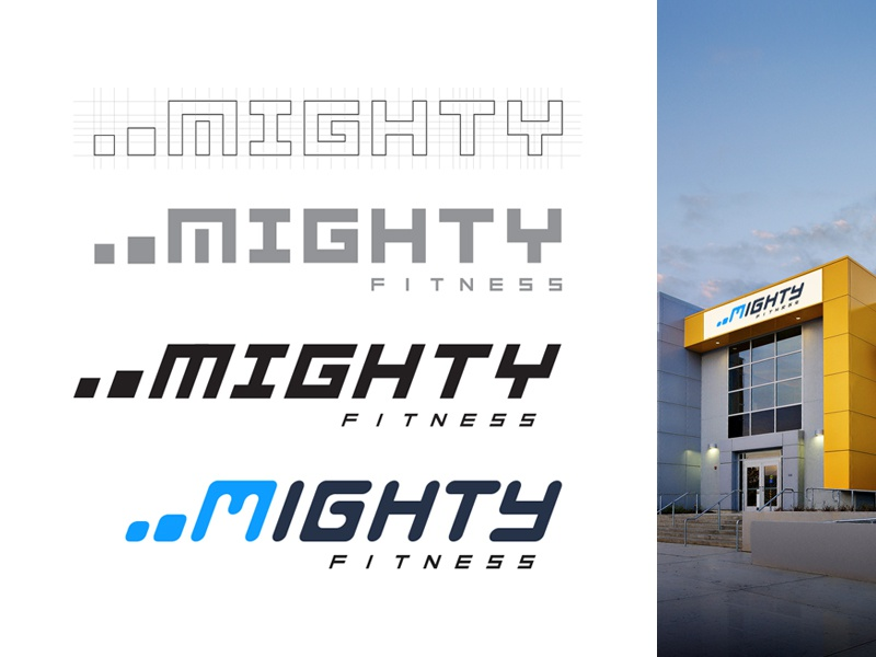 Mighty Fitness Logo simple clean modern logo