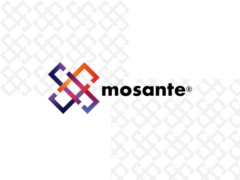 Mosante Logo branding multicolor color futura mosaic mosante logos logo design logotype logo