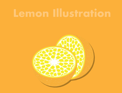 Lemon Illustration food illustration food eat staysafe stayhome digital illustration digital lemon illustration art illustration illustrator