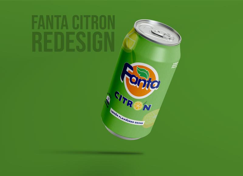 Fanta Citron Rebranding drinkdesign drink food reneuwumuhire kigali rwanda packing design packagingdesign rebranding flat citron fanta