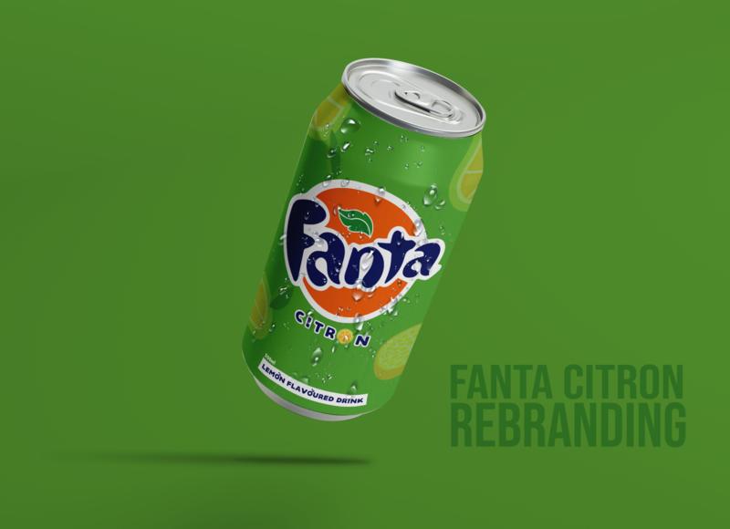 Fanta Citron Rebranding_ Version 2 bottle mockup mockup bottle design food and drink drinks food rwandadesigners kigali rwanda packaging packagedesign drinkdesign fanta lemon citron