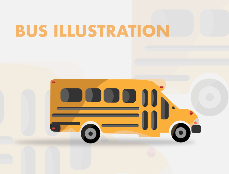 Bus Illustration apple screen webdesign web app design app drawingart drawing draw artwork artist art illustration art illustrations illustrator bus