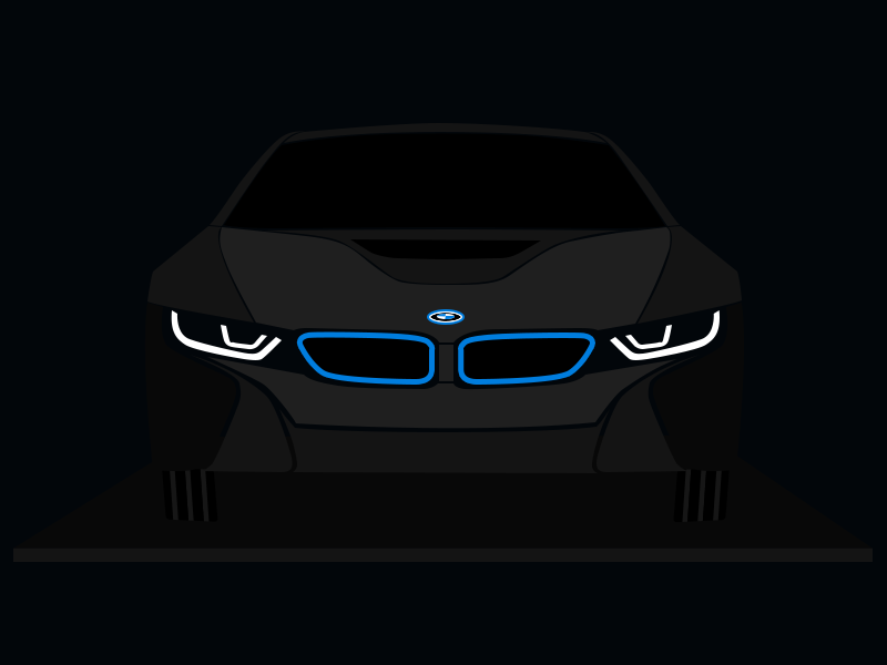Bmw I8 In The Night By Merten Dribbble Dribbble