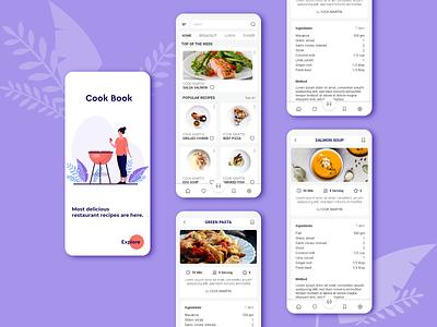 Food Recipes Mobile App minimal app design user interface design figma xd app design food recipes app for mobile food recipes app food app mobile ui product disign graphic design