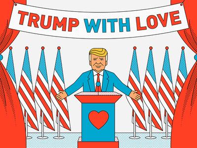 TrumpWith.Love sketch drawing illustration usa america president inauguration lovetrumpshate trumpwithlove trump donald