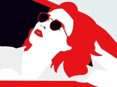 🕶💄🚘✌️☝️ suglasses car ford mustang vector pop lips art digital art illustration sketchbook sketch
