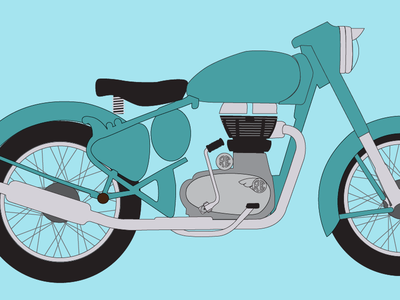 Royal Enfield - Classic 500 Illustration [WIP]