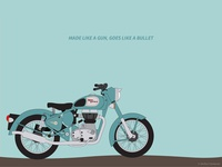 Royal Enfield - Classic 500 Illustration