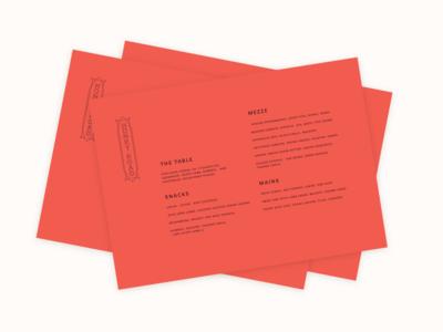 Rosy stacks food red print identity restaurant menu