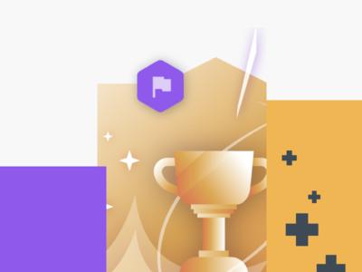 Thumb №8 gaming victory gold trophy win illustration thumbnail