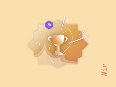 ✺ Win ✪ illustration gold victory practice game trophy win