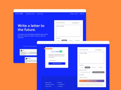 FutureMe Landing Page web website ui homepage marketing site future landing page