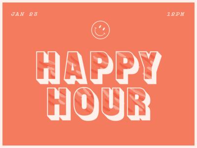 Heppy Hour social event smiley happy hour