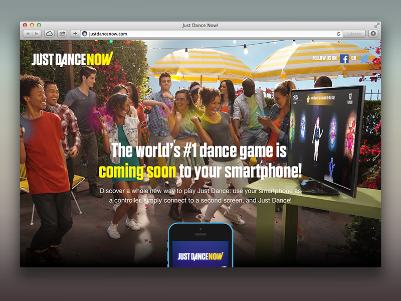 Just Dance Now E3 reveal page by Mattias Hinderson on Dribbble