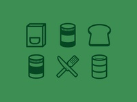 Food Drive Icons