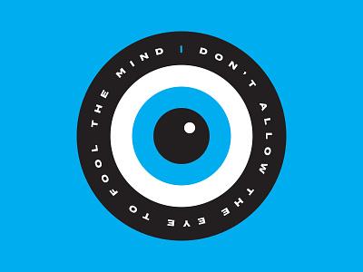 Don't Do It badge type circle blue eye