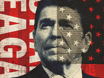Reagan Poster print blue white red president reagan ronald