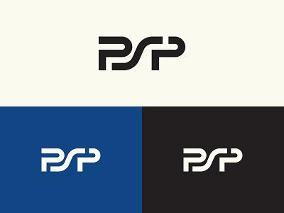 PSP simple logo lines black blue construction