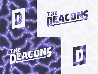 Deacons Logo Concept rock white black music band logo
