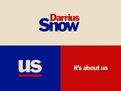 Darri-us Snow vintage blue white red political
