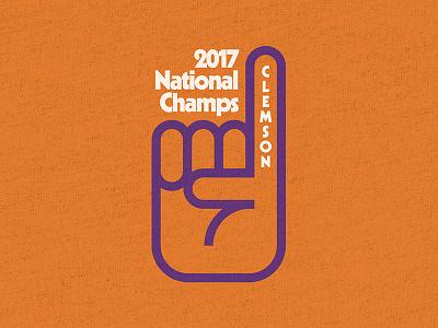 Clemson Tee tee 2017 champs football purple orange clemson