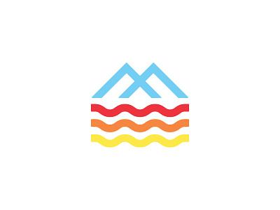 MountainWater outdoor orange blue yellow red water mountain