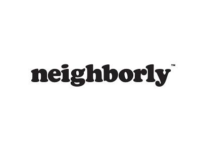 Neighborly Instagram Logo simple neighbor cooper white black logo