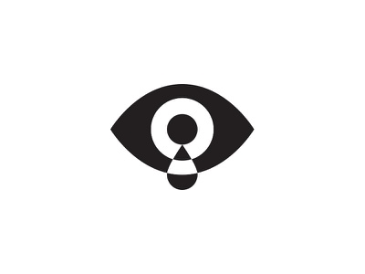 Eye simple shapes cry eye logo icon