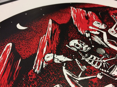 Final Poster illustration skull skeleton boulder flatirons poster screen print