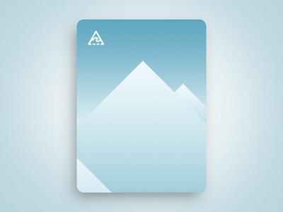 Arctic travel simple vector mountain