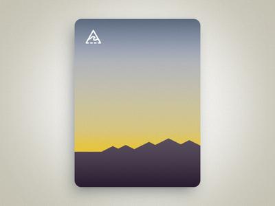Desert sunset mountains travel vector desert