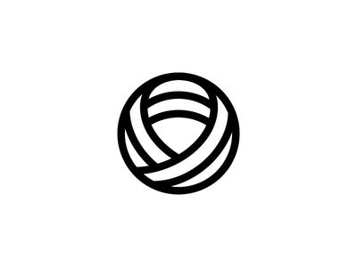 3D Ribbon line ribbon logo