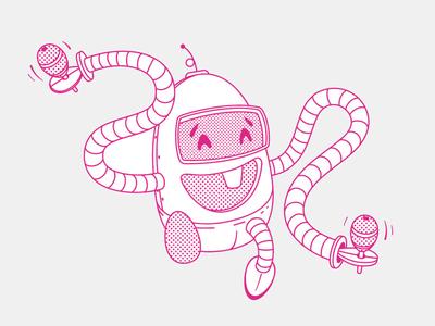 Baby Robot baby robot vector illustration