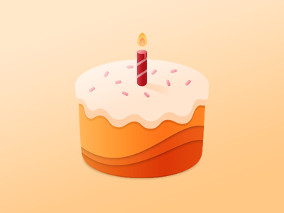 Have your cake and eat it too icing sprinkles illustration illustrator candle birthday cake