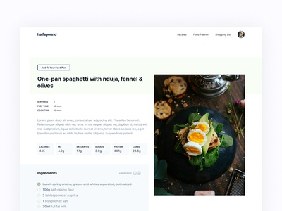 WIP: Recipe Overview Page