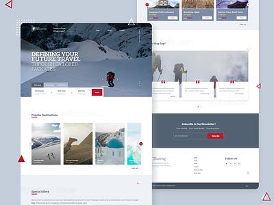 Travelin'- Website design design destinations offers responsive travel ux website graphic design