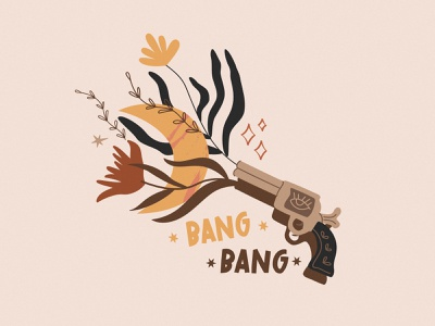 BANG BANG artist illustraion poster art branding vector illustrator minimalism flat design character design illustration flower staywild wild west wildlife