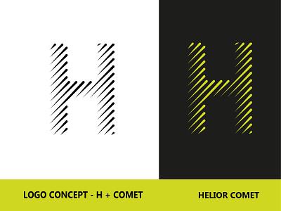 Helior Comet hanif mia helior helior logos logo comet h letter